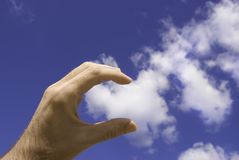 Touch  the cloud Stock Images