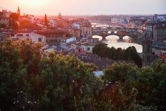 Touch of dusk, Florence. Sunset Florence, Tuscany, Italy 2016 Royalty Free Stock Photo