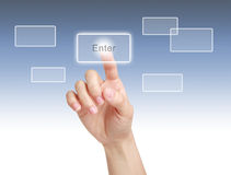 Touch Enter Button Royalty Free Stock Photography