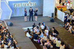 The Touch Event with Guests Mark (Prin Suparat) is a Thai acto. Bangkok, Thailand - June 18, 2017: The Touch Skin Care & Beauty Event with Guests Mark (Prin Royalty Free Stock Photos
