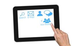 touch för tablet för handPCskärm Royaltyfria Bilder
