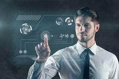 Touch the future. Stock Images