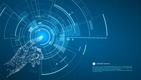 Touch the future,Interface technology, the future of user experience. Touch the future,Interface technology, the future of user experience,The power of science royalty free illustration