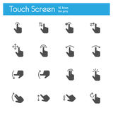 Touch Gesture Icons flat icon Royalty Free Stock Photos