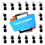 Touch Gestures Icons Black Royalty Free Stock Photo