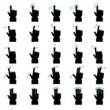 Touch gestures icons set Royalty Free Stock Photography