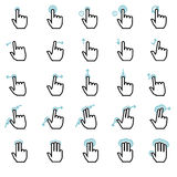 Touch gestures icons set Royalty Free Stock Image