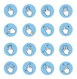 Touch gestures icons Stock Images