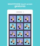 Touch gestures on smartphone Stock Photography
