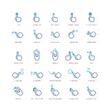 Touch gestures vector icons Royalty Free Stock Photos