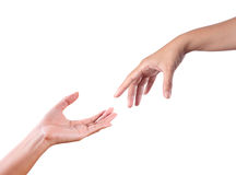 Touch Hands Royalty Free Stock Image