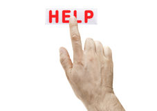 Touch Help Stock Photography