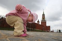 Touch history of Moscow Stock Photo