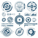 Touch HUD Black White Icons Set Stock Images