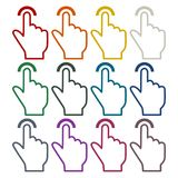 Touch icon, click, hand stickers set. Vector icon Royalty Free Stock Photo