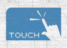 Touch icon. Creative design of touch icon Stock Photography