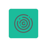 Touch icon vector. Touch icon on a green background. Vector illustration Royalty Free Stock Images