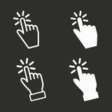 Touch icons set. Touch vector icons set. White illustration isolated for graphic and web design Royalty Free Stock Images