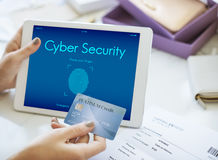 Touch ID Access Cyber Digital Security Graphic Concept Stock Images