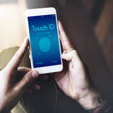 Touch ID Access Cyber Digital Security Graphic Concept Royalty Free Stock Photography