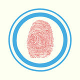 Touch, ID, Fingerprint scan Access Symbol Royalty Free Stock Photography