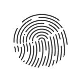 Touch Id illustration. Realistic effect. Vector illustration. Fully editable. Black-White colors Royalty Free Stock Images