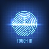 Touch ID. Recognition Technology Concept. Vector Illustration Stock Images