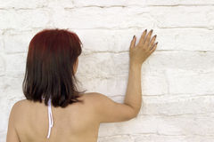 Touch insurmountable wall Royalty Free Stock Photography