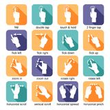 Touch Interface Gestures Icons stock illustration
