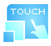 Touch message Stock Image