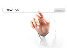 Touch new job search bar Stock Photos