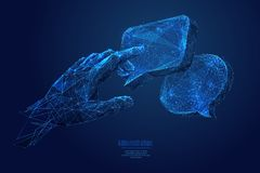 Free Touch On Dialogue Low Poly Blue Stock Photo - 139087960