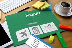 touch Online holiday reservation booking interface to go trip HO Stock Photo