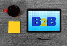 Touch pad with b2b Stock Photos