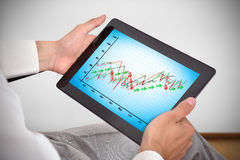 Touch pad with chart Stock Photography