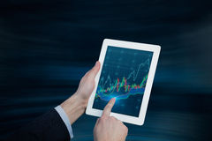 Touch pad with chart Stock Image