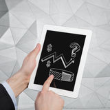 Touch pad with chart Stock Images