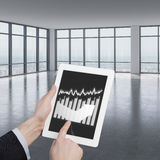 Touch pad with charts Stock Image