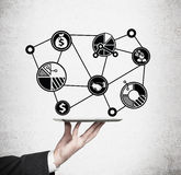 Touch pad with charts Stock Photo