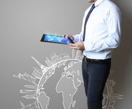 Touch pad concept Stock Images