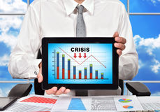 Touch pad with crisis chart Stock Image