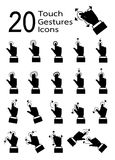 Touch pad gestures icons series Stock Photography