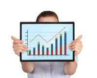 Touch pad with graph Stock Photo
