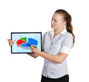 Touch pad with graph Stock Photos