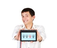 Touch pad in hand Royalty Free Stock Photography