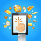 Touch Pad Logistics Royalty Free Stock Photo