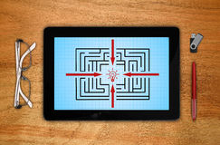 Touch pad with maze Stock Image
