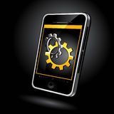 Touch pad phone Royalty Free Stock Images