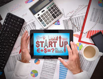 Touch pad with start up Royalty Free Stock Images