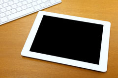 Touch pad on table Royalty Free Stock Photos